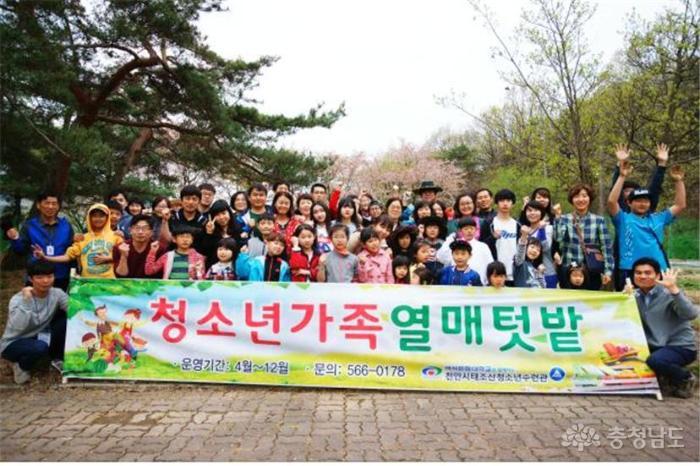 태조산청소년수련관 '가족열매텃밭' 개장 사진