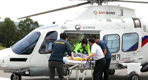 충남닥터헬기 환자 이송 '100회 돌파'