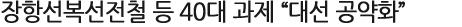 """장항선복선전철 등 40대 과제 """"대선 공약화"""""""