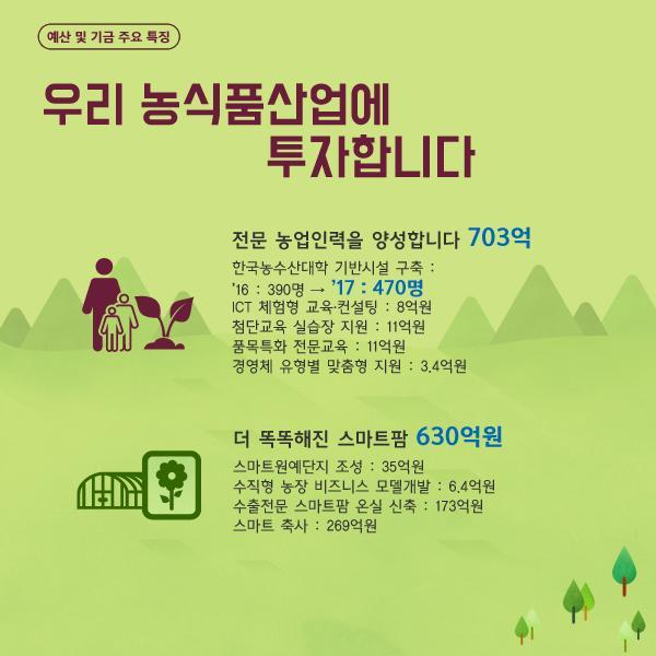 [농림축산식품부] 2017년 농림축산식품부 예산안. 활기찬 농촌을 지원합니다. 이미지 4